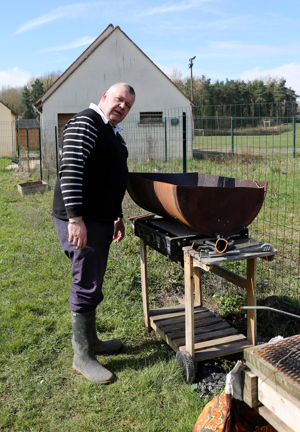 J-C à l'allumage du barbecue